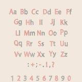 Alfabeto disegnato a mano classico fatto nel vettore ABC per la vostra progettazione Immagini Stock