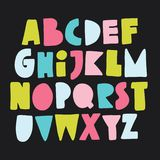 Alfabeto disegnato a mano Colourful illustrazione vettoriale