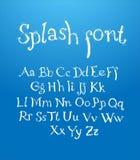 Alfabeto disegnato a mano con spruzzata Immagini Stock Libere da Diritti