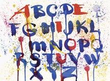 Alfabeto disegnato a mano dell'acquerello Illustrazione di vettore Lettere dipinte spazzola royalty illustrazione gratis