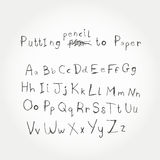 Alfabeto disegnato a mano di vettore Immagine Stock Libera da Diritti