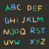 Alfabeto disegnato a mano di vettore Letters1 dipinto spazzola Fotografia Stock Libera da Diritti