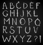 Alfabeto disegnato a mano, fonte di scarabocchio, vettore Fotografia Stock Libera da Diritti