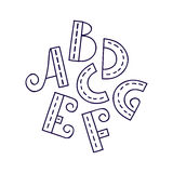 Alfabeto A disegnato a mano G Fotografia Stock
