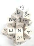 Alfabeto disparado de acima Fotografia de Stock Royalty Free
