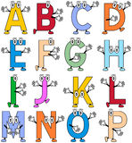 Alfabeto divertido de la historieta [1] Imagenes de archivo