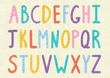 Alfabeto divertido de las letras largas ilustración del vector