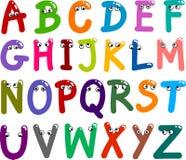 Alfabeto divertido de las mayúsculas libre illustration