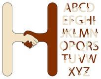 Alfabeto do aperto de mão Foto de Stock