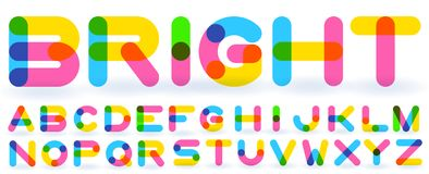 Alfabeto do arco-íris do vetor ilustração stock