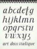 Alfabeto do art deco Foto de Stock