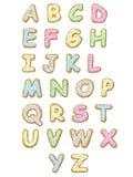 Alfabeto do bolinho ilustração stock