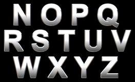 Alfabeto do cromo Imagens de Stock