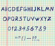 Alfabeto do desenho da mão Fotografia de Stock