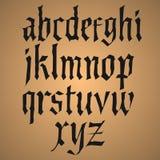 Alfabeto do desenho da mão, ilustração do vetor Fotografia de Stock