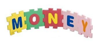 Alfabeto do dinheiro Imagens de Stock Royalty Free
