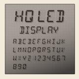 Alfabeto do diodo emissor de luz e exposição digitais dos números Foto de Stock