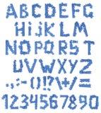 Alfabeto do enigma imagens de stock royalty free
