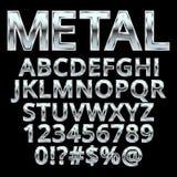Alfabeto do estilo do metal ilustração stock