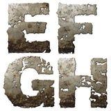 Alfabeto do ferro. Foto de Stock