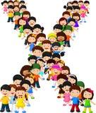 Alfabeto X do formulário das crianças ilustração stock