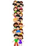 Alfabeto do formulário das crianças mim ilustração stock