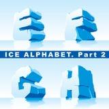 Alfabeto do gelo. Parte 2 Foto de Stock Royalty Free