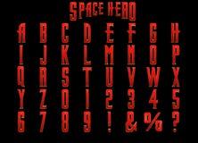Alfabeto do herói 3D do espaço ilustração royalty free
