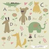 Alfabeto do jardim zoológico Fotografia de Stock