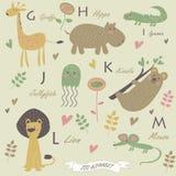 Alfabeto do jardim zoológico Fotografia de Stock Royalty Free