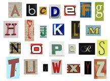 Alfabeto do jornal Imagem de Stock Royalty Free