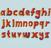 Alfabeto do Lowercase de Grunge 3D Imagens de Stock Royalty Free