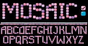 Alfabeto do mosaico - cor cor-de-rosa Imagem de Stock Royalty Free