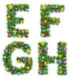 Alfabeto do Natal Fotos de Stock Royalty Free