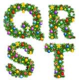 Alfabeto do Natal Imagens de Stock