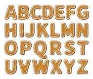 Alfabeto do pão-de-espécie com esmalte ilustração do vetor