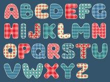 Alfabeto do Quilt. Fotografia de Stock Royalty Free