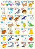 Alfabeto do russo Imagens de Stock