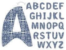 Alfabeto do teste padrão Fotografia de Stock