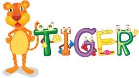 Alfabeto do tigre Imagem de Stock