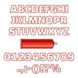 Alfabeto do tubo com ilustração do vetor dos números ilustração do vetor