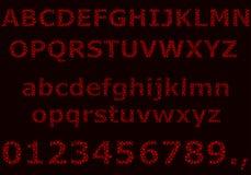 Alfabeto do vetor e dígitos de círculos pequenos Imagem de Stock Royalty Free
