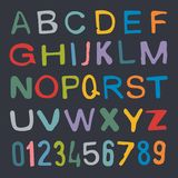Alfabeto do vetor Letras desenhadas mão Imagem de Stock Royalty Free