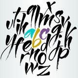 Alfabeto do vetor Letras desenhadas mão Fotos de Stock