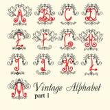 Alfabeto do vintage ajuste a parte 1 das letras Fotografia de Stock Royalty Free
