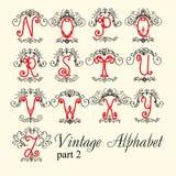 Alfabeto do vintage ajuste a parte 2 das letras ilustração royalty free