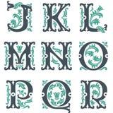 Alfabeto do vintage. Parte 2 Imagem de Stock