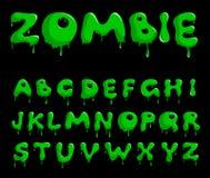 Alfabeto do zombi ilustração do vetor