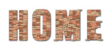Alfabeto domestico del reticolo del mattone di simbolo Immagini Stock