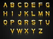 Alfabeto dorato Fotografia Stock